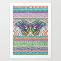 Tribal Butterfly Art Print