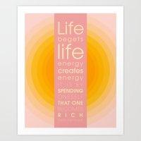 Spend Oneself Art Print