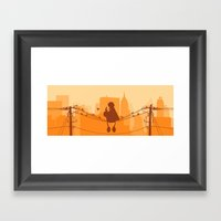 Too Big For The City Framed Art Print