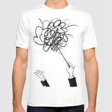 downbeat??  find my beat! White SMALL Mens Fitted Tee