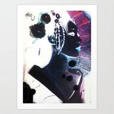 Invert Geisha Art Print