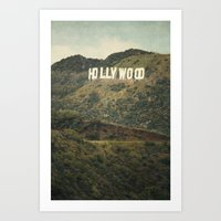 Hollywood (color) Art Print
