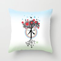 Árbol - 木 - Tree Throw Pillow