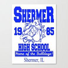 The Breakfast Club  |  Shermer High School Logo  |  John Hughes Universe Canvas Print