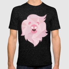 Lion - Steven Universe Mens Fitted Tee Tri-Black SMALL