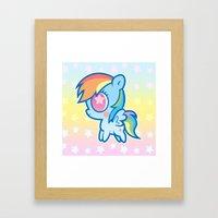 My little Rainbow Dash! Framed Art Print