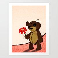 Sweet teddy Art Print