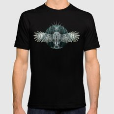 The Owl Mens Fitted Tee Black SMALL