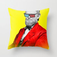 This is the new retro Throw Pillow