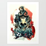THE KING V Art Print