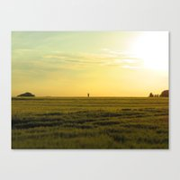 the lonely farmer Canvas Print