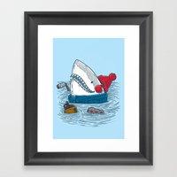 Great White North Shark Framed Art Print