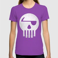 Music Piracy Womens Fitted Tee Ultraviolet SMALL