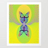 Butterfly Suns Abstract … Art Print