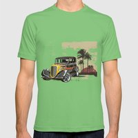 Hot Rod Paradise Mens Fitted Tee Grass SMALL