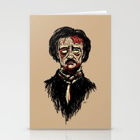 Edgar Allan Poe Zombie Stationery Cards