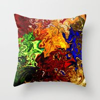 Crying Soul Throw Pillow