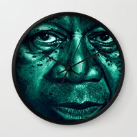 Freeman In Green Wall Clock