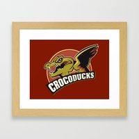 Crocoducks Framed Art Print
