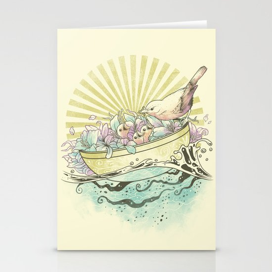 Unique Nesting Stationery Card