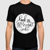 Look On The Bright Side Mens Fitted Tee Black SMALL