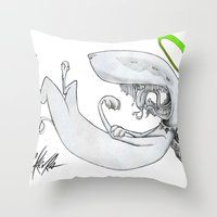 Saint Fuck Mr.Klevra  Throw Pillow