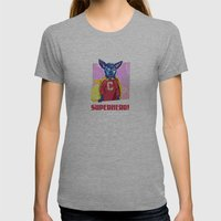 Cyrus The Superhero  Womens Fitted Tee Athletic Grey SMALL