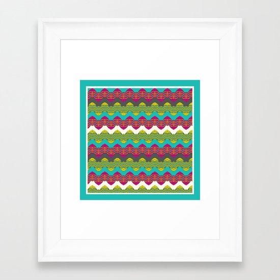 Decor Border blue Framed Art Print