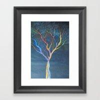 Rainbow Trees Framed Art Print