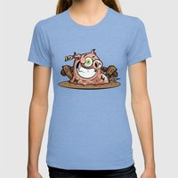 PORKY Womens Fitted Tee Tri-Blue SMALL