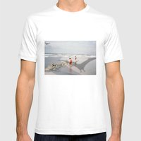 THE BEACH-Suburban Monst… Mens Fitted Tee White SMALL