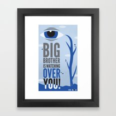 Big Brother. Framed Art Print