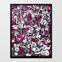 Ghost Doodles Canvas Print