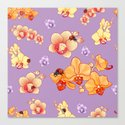 Orchids & Ladybirds Canvas Print