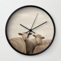 Smiling Sheep  Wall Clock