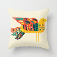 Century Bird Throw Pillow