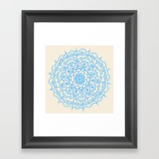 Pale Blue Pencil Pattern… Framed Art Print