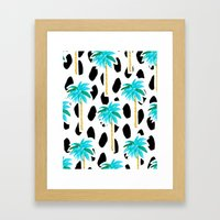 Palm Trees and Dots Framed Art Print