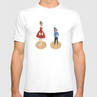 Mum And Son Mens Fitted Tee White SMALL