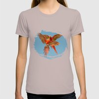 INFLIGHT FIGHT Womens Fitted Tee Cinder SMALL