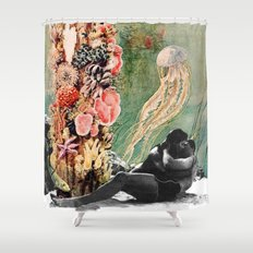 First Kiss Underwater Shower Curtain