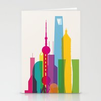 Shapes Of Shanghai. Accu… Stationery Cards