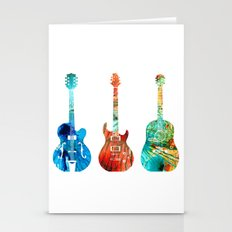 Abstract Guitars By Shar… Stationery Cards