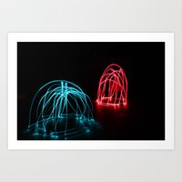 Light Painting Figures Art Print