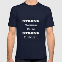 Strong Women. Mens Fitted Tee Navy SMALL