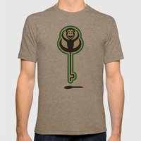 monKEY Mens Fitted Tee Tri-Coffee SMALL