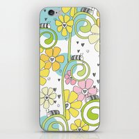 Hanging Out In The Garden With My Friends iPhone & iPod Skin