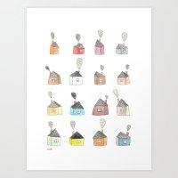 Les Petites Maisons Doui… Art Print