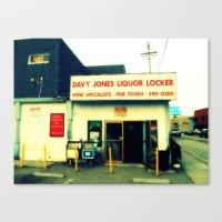 Davy Jones Liquor Locker Canvas Print