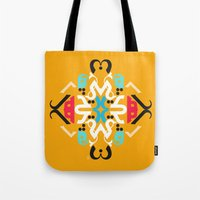 Orange Arabic Tote Bag